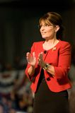 Governor Sarah Palin Vertical Clapping 2 royalty free stock photo