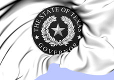 Governor of Texas Seal, USA. Stock Image