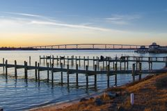 Governor Thomas Johnson Bridge. Maryland royalty free stock photography
