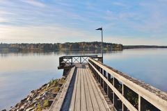 Governor's bridge in Luleå Royalty Free Stock Photography