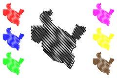 Διάνυσμα χαρτών του Σαλαντίν Governorate διανυσματική απεικόνιση