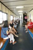 Governors Island Ferry. The ferry that travels between downtown Manhattan and Governors Island, a popular tourist destination in New York City Stock Image
