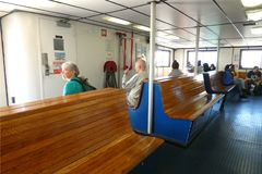 Governors Island Ferry. The ferry that travels between downtown Manhattan and Governors Island, a popular tourist destination in New York City Royalty Free Stock Photo
