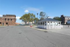 Governors Island. An island in New York harbor that is a popular tourist destination Stock Image