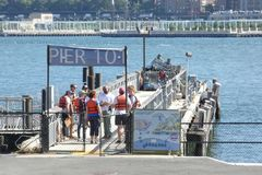 Governors Island Pier Royalty Free Stock Image