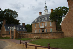 Governors mansion in historic Williamsburg Royalty Free Stock Photos