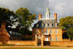 Governors Palace Colonial Williamsburg. The Governors Palace is the Centerpiece of Williamsburg and was once home of the British Government in Virginia Royalty Free Stock Photo