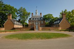 Governor's Palace Williamsburg Royalty Free Stock Images