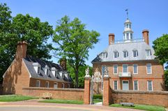 Governors Palace, Williamsburg Royalty Free Stock Photos
