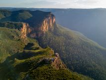 Govets Gorge Blue Mountains Australia. Dramatic light at Govets Gorge in the magnificent Blue Mountains Australia stock photo