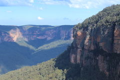 Govetts飞跃-美丽的蓝山山脉 免版税库存照片
