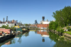 Gowanus Canal, Brooklyn, NY Royalty Free Stock Photo