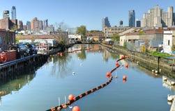 Gowanus-Kanal, Brooklyn, NY stockfoto