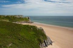 gower半岛威尔士 免版税库存照片