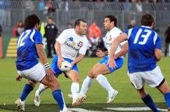 gower意大利符合橄榄球萨摩亚测试与 免版税库存图片