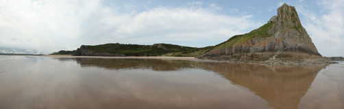 Gower coast panorama Stock Images