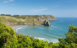 The Gower coast Wales at Three Cliffs Bay near to Oxwich Royalty Free Stock Images