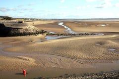 Gower Peninsula At The Loughor bred flodmynning, Burry port Royaltyfria Foton