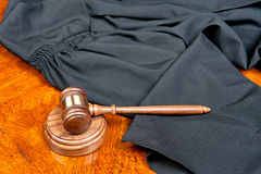 Gown and gavel Royalty Free Stock Photo