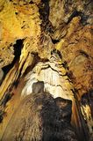 Gown of a nature queen - luray caverns Royalty Free Stock Photos