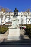 Goya Statue na frente do museu do Prado na cidade do Madri fotos de stock royalty free