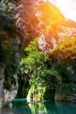 Goynuk峡谷,全国自然公园 免版税库存图片