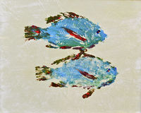 Goyutaku鱼印刷品8 皇族释放例证