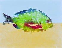 Goyutaku-Fisch-Druck 5 lizenzfreies stockfoto