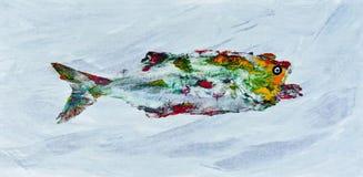 Goyutaku Fish Print 4 stock illustration