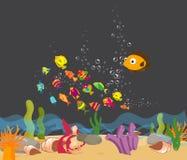 Gozado debajo del mar libre illustration