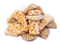Gozinaki: sementes de girassol, o amendoim, sésamo imagem de stock