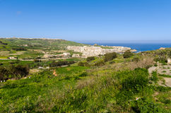 Gozitan countryside - Malta. Views over Marsalforn and  the Gozitan countryside - Malta Stock Photography