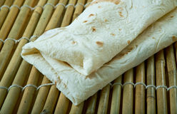 Gozleme. Traditional savory Turkish flatbread and pastry dish Royalty Free Stock Image