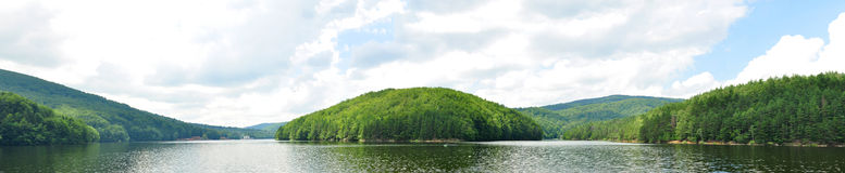 Gozna lake. Romania valiug village three waters gozna lake landscape panorama Royalty Free Stock Image
