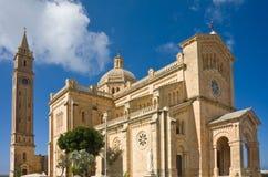 Gozo的,马耳他Ta Pinu教会 免版税库存图片