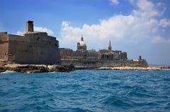 gozo马耳他海运看见 免版税库存图片