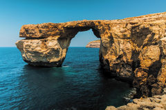 Gozo Azure Window Height Malta.  Stock Photos