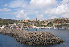 Gozo: Beautiful landscape of Mgarr Harbour, Malta Stock Photography