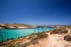 Gozo Blue Lagoon Stock Image