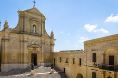 The Gozo Cathedral inside the Citadel of Victoria - Victoria, Gozo, Malta. The Gozo Cathedral inside the Citadel of Victoria former Rabat - Victoria, Gozo, Malta stock image