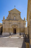 The Gozo Cathedral inside the Citadel of Victoria - Victoria, Gozo, Malta. The Gozo Cathedral inside the Citadel of Victoria former Rabat - Victoria, Gozo, Malta stock photo