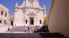 Gozo Cathedral Malta stock footage