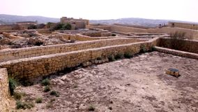 Gozo Cathedral old ruins. 1 stock footage