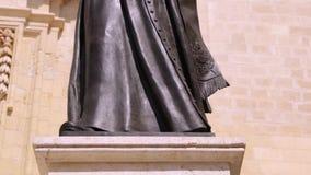 Gozo Cathedral Pope Saint John Paul II stock video