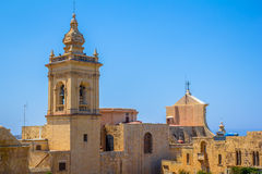 Gozo Cathedral Side Royalty Free Stock Image