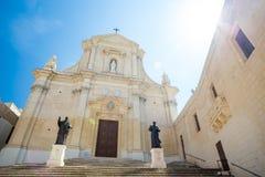 Gozo Cathedral, Victoria Rabat, Malta. Gozo Cathedral, in Victoria Rabat, Malta Royalty Free Stock Photo