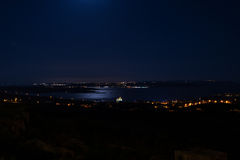 Gozo Channel by night. Gozo Channel is the waters between Malta Comnio and Gozo, only way to get across is by ferry royalty free stock photos