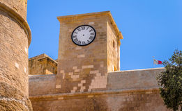 Gozo Citadel Clock Royalty Free Stock Images