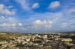 Gozo Cityscape Arkivbild