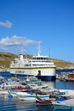 Gozo ferry in Mgarr port, Gozo. Stock Images